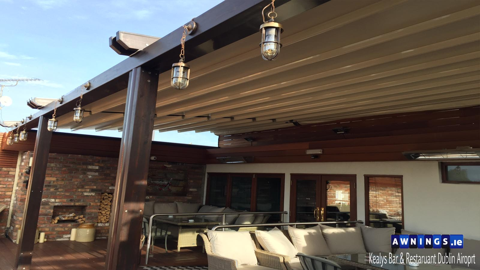 awnings ireland image of Commercial Retractable All Year Round Roof Awning