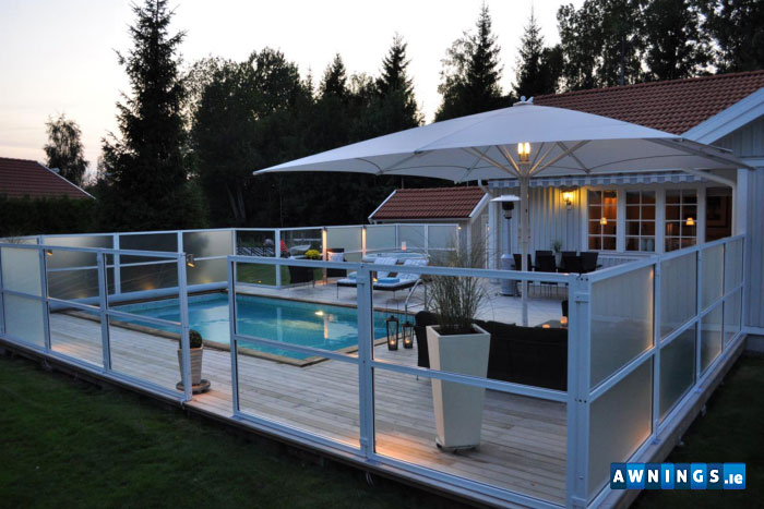 Awnings.ie Residential glass terrace