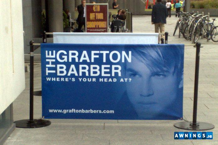 Awnings.ie grafton barber windbreaker